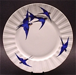 Plate Bluebirds Czechoslovakia Porcelain Vintage Bird