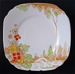 Art Deco Plate England Landscape Bridge Cake Bread