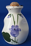 Ceramic Perfume Bottle Devon Violets Hand Painted Orig