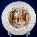 Plate Dover Inn Burleigh Genre Vintage Embossed Rim