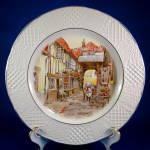 Plate Old Gunsmith Inn Burleigh Genre Embossed Rim