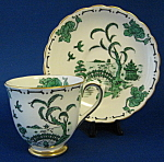 Cup And Saucer Royal Chelsea Pekin Green Oriental