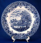 Blue Transferware Plate Homeland Grindley Ltd Dinner