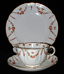Antique George Jones Crescent Cup Saucer Plate Trio