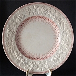 George Jones Crescent Plate Art Nouveau Shannon Pink