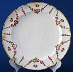 Antique George Jones Crescent Plate Cake Rose Swags