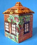 Cottage Ware England Thatched Jam Jar Mustard Vintage