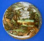 English Pot Lid The Cornfield Constable James Kent