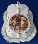 Dickens Oliver Twist Butter Or Cheese Dish 2 Piece Dome