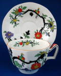 Mason's Cup And Saucer Birds Branches Antique Ironstone