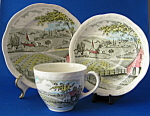 Transferware Cup Saucer And Plate Home Pastures Vintage