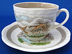 Mallard Duck Cup And Saucer English Wild Life Birds
