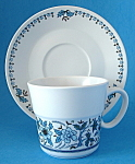 Vintage Noritake Blue Moon Cup And Saucer Blue White