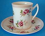 English Tea Cup And Saucer Rosina Roses Pink Bone China
