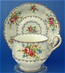 Royal Albert Cup And Saucer Petit Point Vintage English 1930s