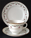 Antique Royal Albert Cup Saucer Plate Roses And Swags