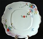 Antique Royal Albert Cake Plate Dovecot Art Deco Birds