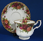 Cup And Saucer Royal Albert Old Country Roses English