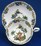 Royal Albert Cup And Saucer Colorful Chinese Scene 1905