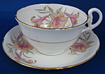 Royal Grafton Cup And Saucer Tiger Lillies Bone China