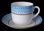 Antique Cup And Saucer Royal Stafford Blue White Gold