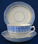 Staffordshire Blue Transfer Cup Saucer Plate 1850-1870s