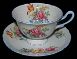 Shelley China Gainsborough Cup And Saucer Crocus Rose