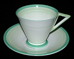 Shelley Art Deco Cup And Saucer Eve Bands And Shades