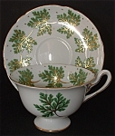 Shelley Gainsborough Cup And Saucer Gold Green Leaves