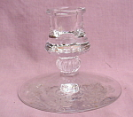Heisey Orchid Single Candlestick Candle Holder.