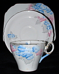 Shelley Phlox Cambridge Teacup Trio Art Deco England