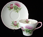 Cup And Saucer Shelley England Thistle New Cambridge