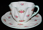 Shelley China Dainty Rosebud Cup And Saucer England