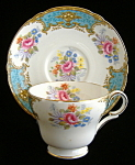 Shelley China Cup And Saucer Blue Empress Henley Shape