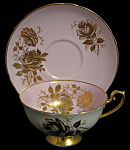 Shelley Cup And Saucer Lilac Gold Rose Lincoln England