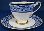 Shelley China Swallows Ripon Shape Cup And Saucer
