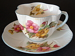 Shelley Begonia Dainty Shape Teacup And Saucer England