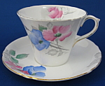 Shelley Cup And Saucer Dog Rose Art Deco Perth England