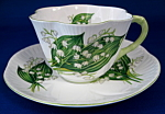 Shelley China Dainty Lily Of The Valley Cup And Saucer