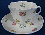 Cup And Saucer Shelley Dainty Rose Pansy Forget Me Nots