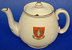 Shelley Crested China Teapot Yeovil England Souvenir