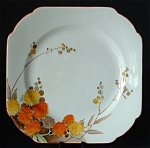 Shelley England Acacia Art Deco Plate Square Salad