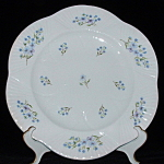 Plate Shelley England Dainty Blue Rock Dinner Large