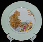 Shelley England Dinner Plate Heather Green Bone China