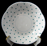 Shelley Dainty Polka Dot Fruit Bowl Sauce Turquoise