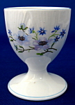 Shelley Egg Cup Blue Rock Dainty Shape Pedestal Eggcup