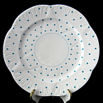 Shelley Dainty Polka Dot Turquoise Salad Plate