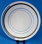 Shelley Eve Salad Plate Blue And Silver Bands Art Deco