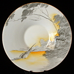Shelley Art Deco Saucer Lakeland Regent Bird Yellow