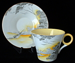 Shelley Art Deco Cup And Saucer Lakeland Regent Yellow